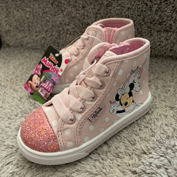 DISNEY MICKEY MOUSE SHOES GRAY HIGH TOP CANVAS SNEAKERS TODDLER NWT 7 9 10 11 12